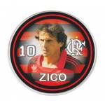 Bot�o do Flamengo - Zico